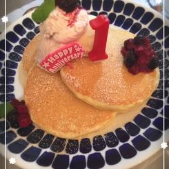 記念日のパンケーキ
